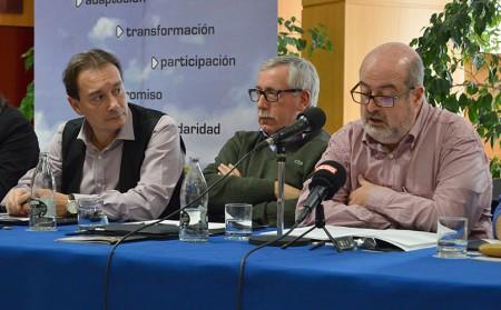 Intervención de Enrique Fossoul en el Consejo federal. Girona, 28 de noviembre de 2014. Archivo FSC-CCOO