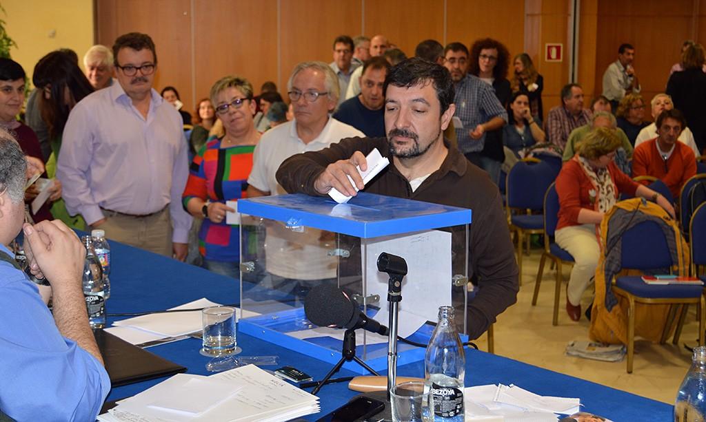Votaciones en el Consejo federal. Girona, 28 de noviembre de 2014. Archivo FSC-CCOO