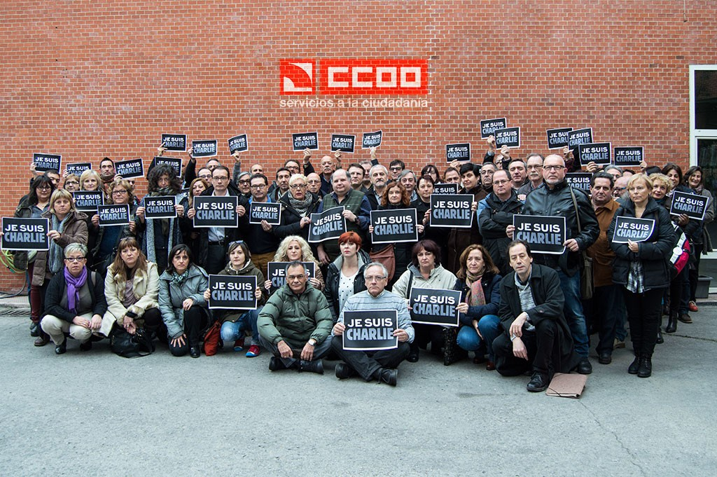 El Consejo federal de FSC-CCOO se solidariza con la redacción de Charlie Hebdo. Madrid, 15.01.15. Archivo FSC-CCOO