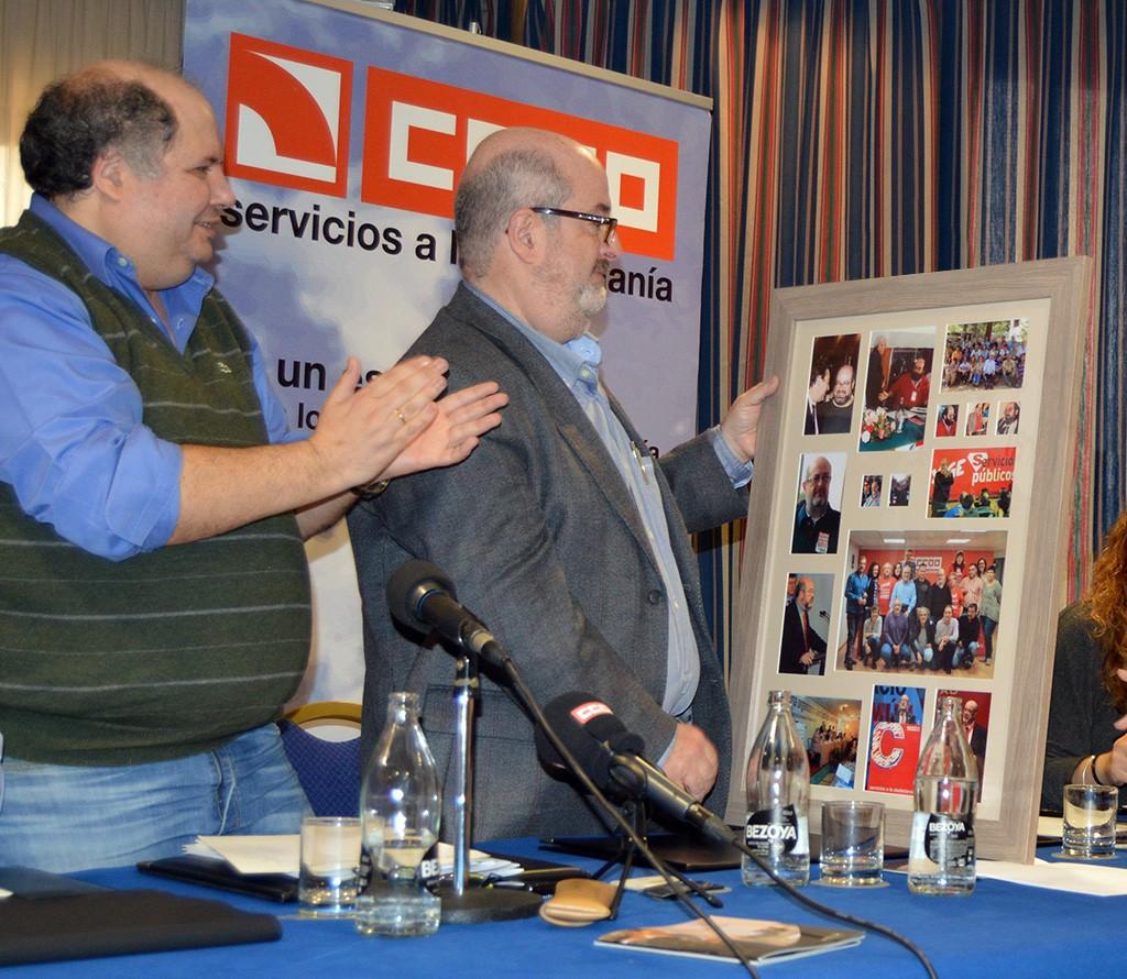 Homenaje a Enrique Fossoul. Girona, 28 de noviembre de 2014. Archivo FSC-CCOO