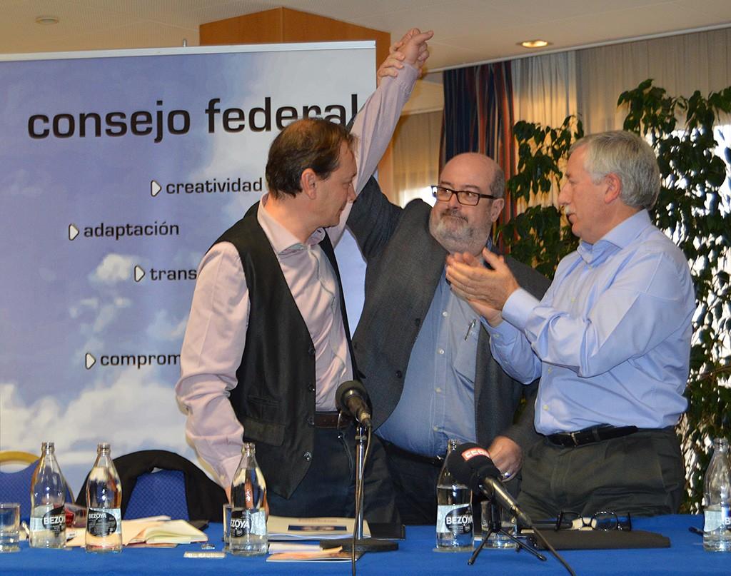 El Consejo federal elige a Javier Jiménez secretario general. Girona, 28 de noviembre de 2014. Archivo FSC-CCOO
