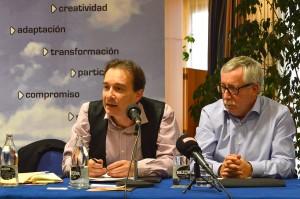 Primera intervención de Javier Jiménez como secretario general de FSC-CCOO. Girona, 28 de noviembre de 2014. Archivo FSC-CCOO