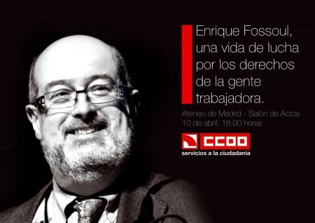Homenaje a Enrique Fossoul. Madrid, 10.4.15. Archivo FSC-CCOO